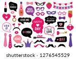 valentine's day photo booth...   Shutterstock . vector #1276545529