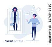 online doctor consultation... | Shutterstock . vector #1276549810