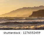 rough wave crushing the... | Shutterstock . vector #1276552459