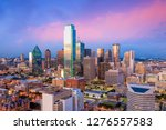dallas  texas cityscape with... | Shutterstock . vector #1276557583