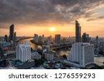 cityscape of skyscraper with... | Shutterstock . vector #1276559293