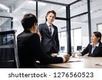 business people discussing  in ... | Shutterstock . vector #1276560523