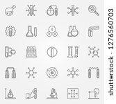 chemistry icons set   vector... | Shutterstock .eps vector #1276560703
