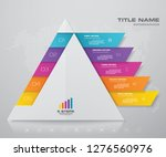 5 steps pyramid with free space ...   Shutterstock .eps vector #1276560976