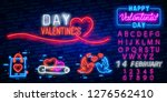 neon sign  the word love with... | Shutterstock .eps vector #1276562410