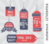 set of sale labels and banner.... | Shutterstock .eps vector #1276564516