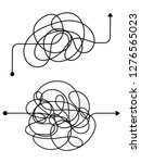 confused process  chaos line... | Shutterstock .eps vector #1276565023