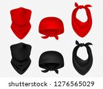head bandanas  neck scarf and... | Shutterstock .eps vector #1276565029