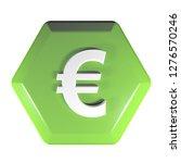 a green hexagonal push button...   Shutterstock . vector #1276570246