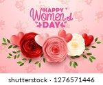 happy international women's day ... | Shutterstock .eps vector #1276571446