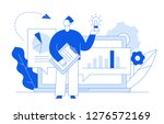 flat line style business and...   Shutterstock . vector #1276572169