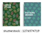 modern cover design with leaf... | Shutterstock .eps vector #1276574719
