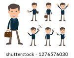 collection set of business man... | Shutterstock .eps vector #1276576030