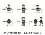 collection set of business man... | Shutterstock .eps vector #1276576033