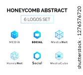 hexagonal geometrical social...   Shutterstock . vector #1276576720