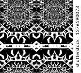 geometric black and white... | Shutterstock . vector #1276590073