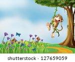Illustration Of A Monkey...
