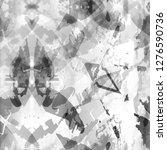 black and white geometric... | Shutterstock . vector #1276590736