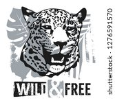 wild and free t shirt apparel... | Shutterstock .eps vector #1276591570