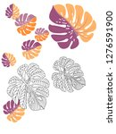 vector tropical pattern with... | Shutterstock .eps vector #1276591900