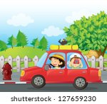 illustration of a boy and a... | Shutterstock .eps vector #127659230