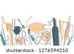 cooking seamless pattern.... | Shutterstock .eps vector #1276594210