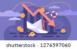 bankruptcy vector illustration. ... | Shutterstock .eps vector #1276597060