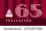color card with the number 65... | Shutterstock .eps vector #1276597300
