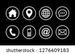 web icon set symbol vector ... | Shutterstock .eps vector #1276609183