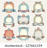 vector set vintage labels | Shutterstock .eps vector #127661159