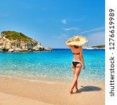 Woman In Bikini On Beach ...