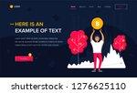 man holds bitcoin. website...   Shutterstock .eps vector #1276625110