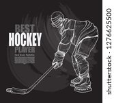 illustration set of hockey... | Shutterstock .eps vector #1276625500