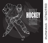 illustration set of hockey... | Shutterstock .eps vector #1276625503