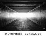 light at the end of tunnel... | Shutterstock . vector #127662719