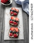 fresh home made sandwiches with ... | Shutterstock . vector #1276629409