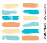 brush strokes set backgrounds.... | Shutterstock .eps vector #1276632343