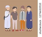 set arabian young muslim... | Shutterstock .eps vector #1276633510