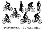 a set of bicycle cyclists... | Shutterstock . vector #1276634863