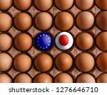 eu european union and japan... | Shutterstock . vector #1276646710