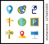 9 continent icon. vector...   Shutterstock .eps vector #1276651003