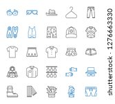 wear icons set. collection of... | Shutterstock .eps vector #1276663330