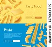vector realistic pasta types... | Shutterstock .eps vector #1276666540