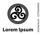 triple spiral  ancient celtic... | Shutterstock .eps vector #1276666606