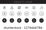 identity icons set. collection... | Shutterstock .eps vector #1276666786