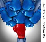 overcoming adversity and... | Shutterstock . vector #127666874