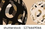 two alphabet balls facing each...   Shutterstock .eps vector #1276669066