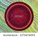 abstract waves background.... | Shutterstock .eps vector #1276676053