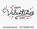 valentine's day typography with ... | Shutterstock .eps vector #1276683769