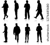black silhouette group of... | Shutterstock .eps vector #1276685680